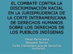 Oscar Parra Vera Abogado Senior Corte Interamericana de Derechos Humanos