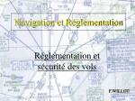 Navigation et Réglementation