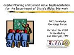 Capital Planning and Earned Value Implementation for the Department of State's Global Network