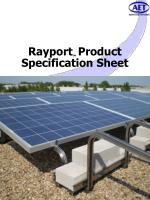 Rayport TM Product Specification Sheet