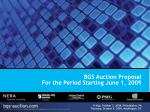 BGS Auction Proposal For the Period Starting June 1, 2009