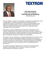 Siisi Adu-Gyamfi Senior Vice President International & Marketing Providence, RI