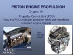 PISTON ENGINE PROPULSION