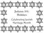 Judaism 101: Holidays