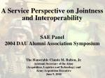 A Service Perspective on Jointness and Interoperability