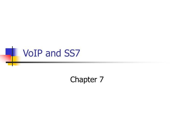 voip and ss7 n.