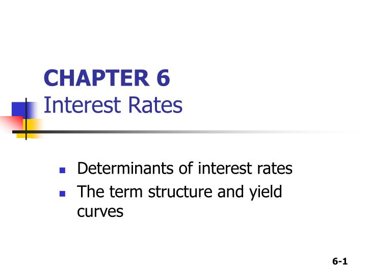 chapter 6 interest rates n.