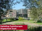 Opleiding Fysiotherapie Hogeschool Zuyd