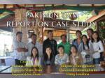 Pak Mun Dam  Report on Case study