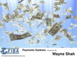 Payments Systems   Presented  By                             Wayne Shah