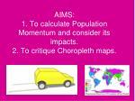 Population Momentum and World Population Growth