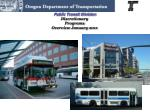 Public Transit Division Discretionary  Programs Overview January 2011