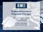 Project Governance Proposed Changes