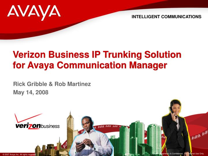 verizon business ip trunking solution for avaya communication manager n.