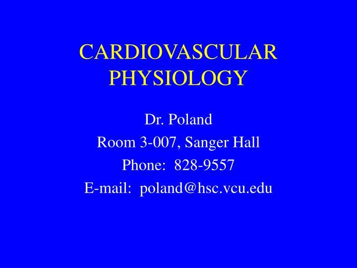 cardiovascular physiology n.