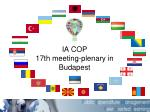 IA COP 1 7 th meeting-plenary in  Budapest