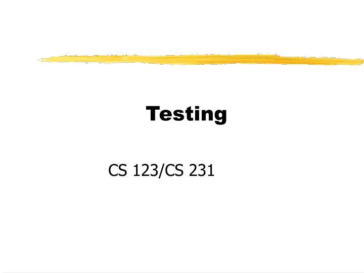 testing n.