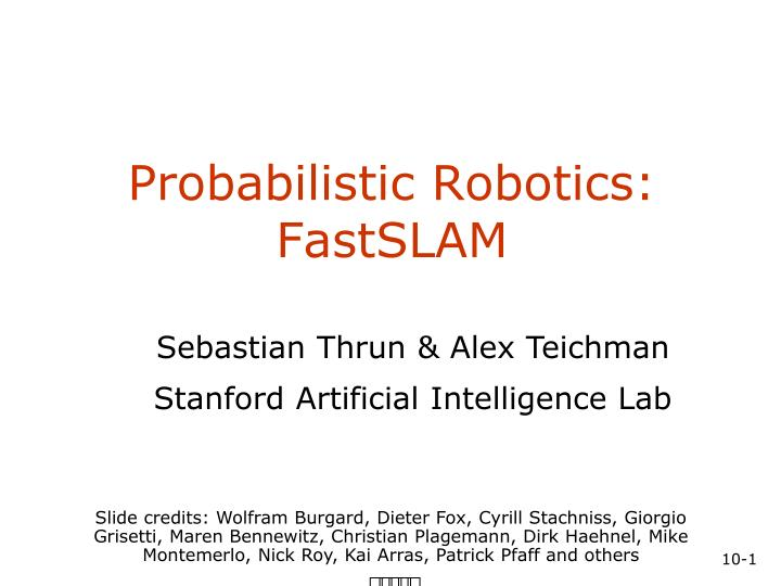probabilistic robotics fastslam n.