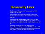 Biosecurity Laws