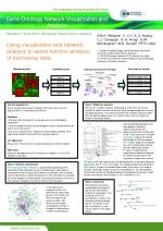 Using visualization and network analysis to assist function analysis of microarray data