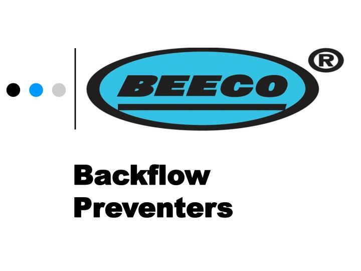 backflow preventers n.