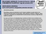 RELACIONES LABORALES –Facultad de Derecho– UDELAR FUNDAMENTOS FILOSÓFICOS segundo semestre 2012