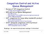 Congestion Control and Active Queue Management