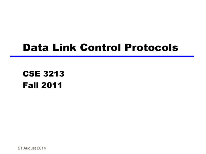 data link control protocols n.