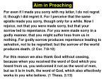 Aim in Preaching