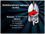 Multidisciplinary approach to HCC