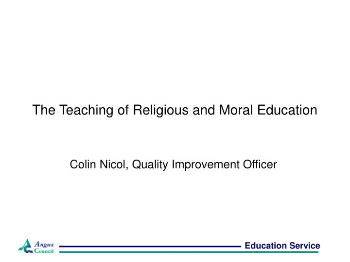 the teaching of religious and moral education n.