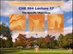 CHE 594 Lecture 17