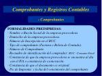 Comprobantes y Registros Contables