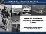 Search and Order of DLA Disposition Services Excess Property