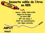 Desserte vallée de l'Arve en RER