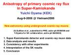 Anisotropy of primary cosmic ray flux in Super-Kamiokande