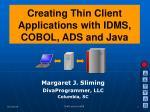 Margaret J. Sliming DivaProgrammer, LLC Columbia, SC