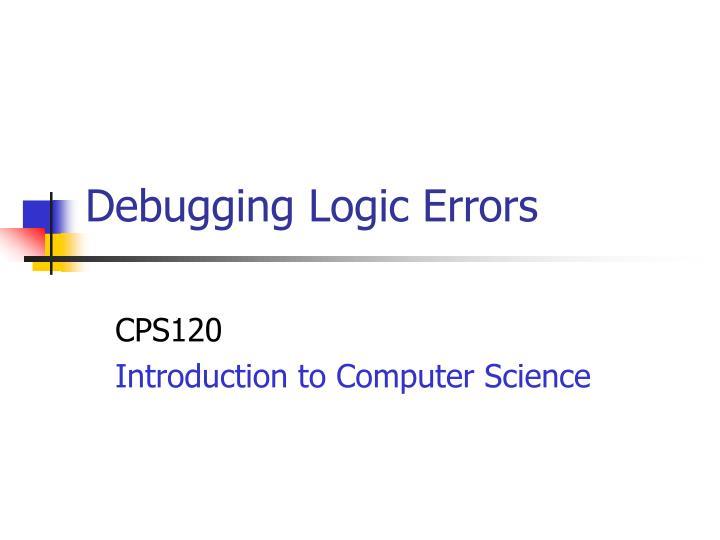 debugging logic errors n.