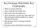 Key Exchange With Public Key Cryptography