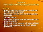 Chapter 4 The health benefits of physical activity