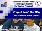 Project Lead The Way For Janesville Middle Schools