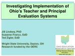 Jill Lindsey, PhD  Suzanne Franco,  EdD Ted  Zigler ,  EdD Wright State University, Dayton, OH