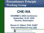 Precautionary Principle Working Group
