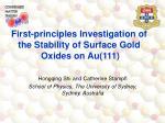 Hongqing Shi and Catherine Stampfl School of Physics, The University of Sydney, Sydney, Australia