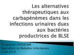 Dr Jacques CHOUCAIR Specialiste en Maladies Infectieuses CLIN 2010
