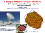 A 1200μm MAMBO Survey of GOODS-N