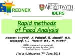 Rapid methods  of Feed Analysis