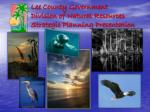 Lee County Government Division of Natural Resources Strategic Planning Presentation