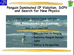 Penguin Dominated CP Violation, DCPV and Search for New Physics