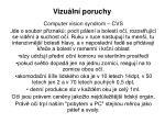 Vizuální poruchy